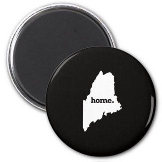 Maine Home 6 Cm Round Magnet