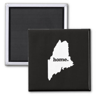 Maine Home Square Magnet