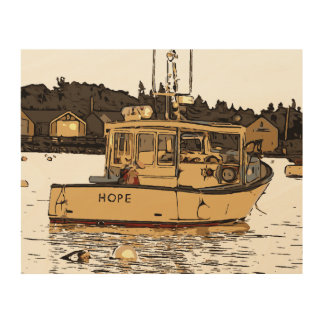 MAINE - HOPE WOOD WALL ART