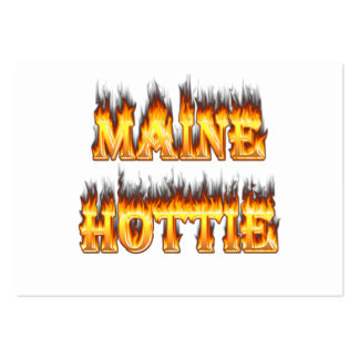 Maine Hottie Fire and flames Business Card Template