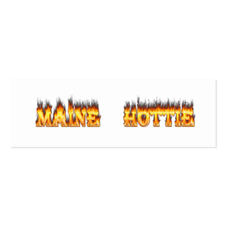 Maine Hottie Fire and flames Business Card Templates