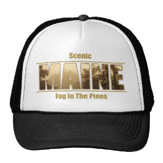 MAINE Image text - Fog In The Pines Hat