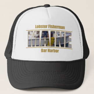 MAINE Image Text Series - Lobster Fisherman Trucker Hat
