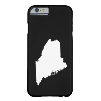 Maine in White and Black Barely There iPhone 6 Case