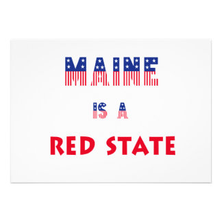 Maine is a Red State Announcements