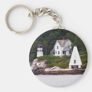 Maine Light House Key Ring