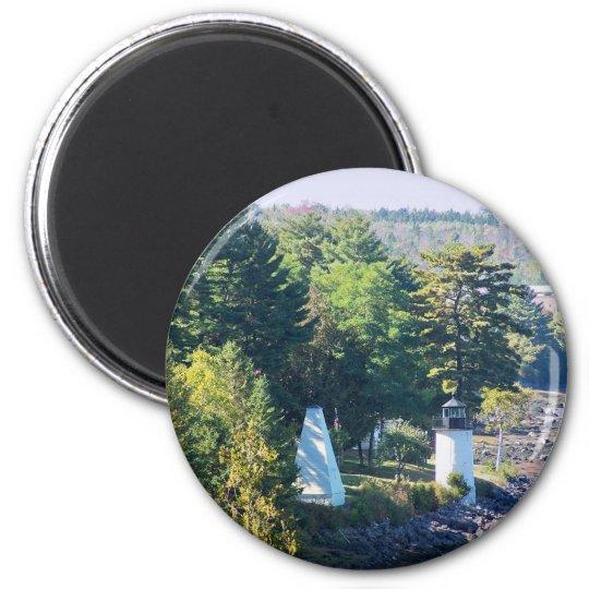 Maine Lighthouse 3 6 Cm Round Magnet