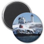 Maine Lighthouse 4 Refrigerator Magnets