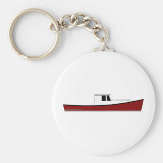Maine Lobster Boat Key Ring