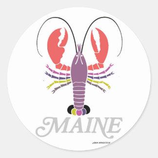 Maine Lobster Classic Round Sticker
