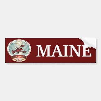 Maine Lobster Crest Bumper Sticker