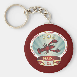 Maine Lobster Crest Key Ring