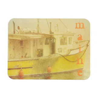 Maine Lobster Fishing Boat Magnet