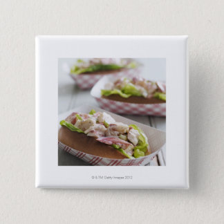Maine Lobster Roll 15 Cm Square Badge