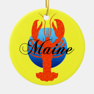 Maine lobsters christmas ornament
