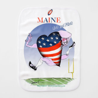 maine loud and proud, tony fernandes burp cloth