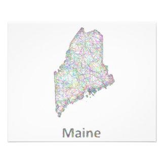 Maine map 11.5 cm x 14 cm flyer