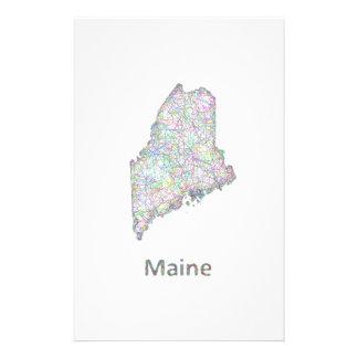 Maine map 14 cm x 21.5 cm flyer