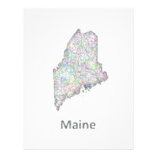 Maine map 21.5 cm x 28 cm flyer