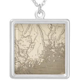 Maine Map by Arrowsmith Silver Plated Necklace