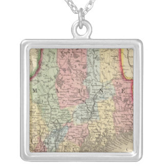 Maine Map by Mitchell Silver Plated Necklace