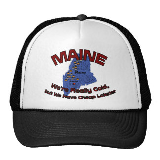 Maine ME Motto ~ We're Really Cold But Have Cheap Trucker Hats