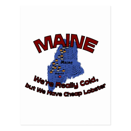 Maine ME Motto ~ We're Really Cold But Have Cheap Postcard