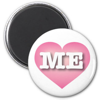 Maine ME pink fade heart 6 Cm Round Magnet