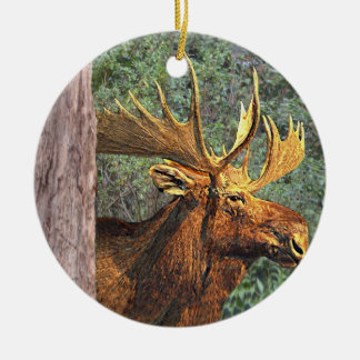 Maine Moose Christmas Ornament