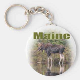 Maine Moose Key Ring