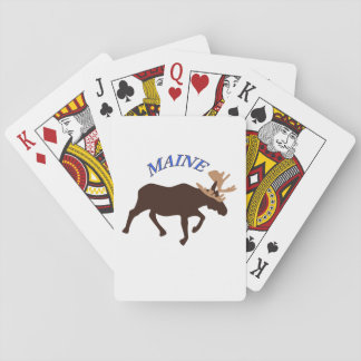 Maine Moose Playing Cards