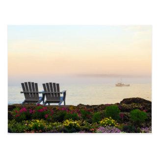 Maine Morning Mist Postcard