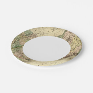 Maine, New Hampshire, Vermont, Massachusetts 7 Inch Paper Plate