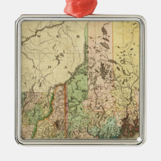 Maine, New Hampshire, Vermont, Massachusetts Christmas Ornament