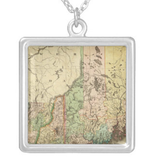 Maine, New Hampshire, Vermont, Massachusetts Silver Plated Necklace