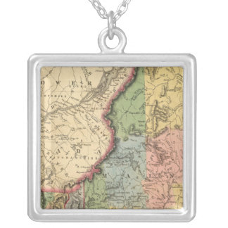 Maine, New Hampshire, Vermont Silver Plated Necklace