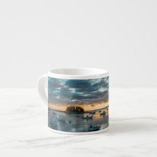 Maine, Newagen, sunset harbor 1 Espresso Mug