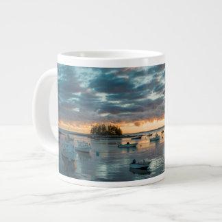 Maine, Newagen, sunset harbor 1 Large Coffee Mug
