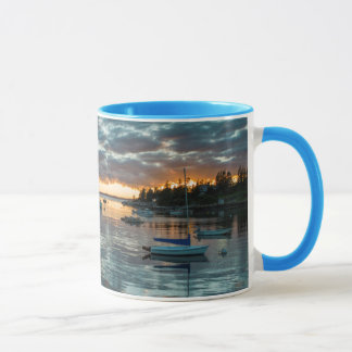 Maine, Newagen, sunset harbor 1 Mug