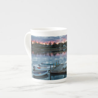 Maine, Newagen, sunset harbor 2 2 Bone China Mug