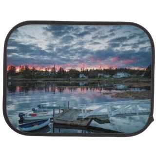 Maine, Newagen, sunset harbor 2 2 Car Mat