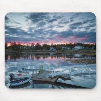 Maine, Newagen, sunset harbor 2 2 Mouse Mat