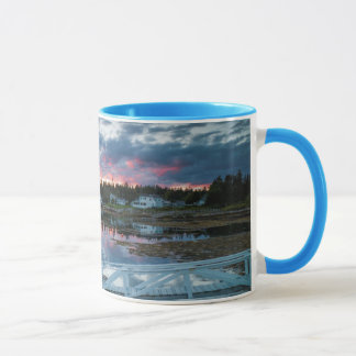 Maine, Newagen, sunset harbor 2 2 Mug