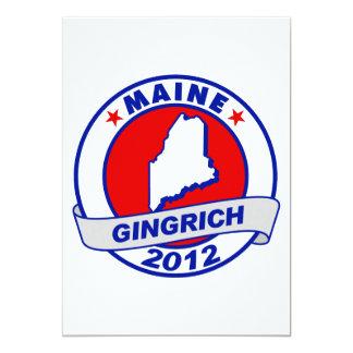 "Maine Newt Gingrich 5"" X 7"" Invitation Card"