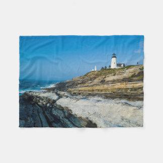 Maine, Pemaquid Point, Pemaquid Point Lighthouse Fleece Blanket