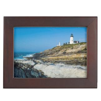 Maine, Pemaquid Point, Pemaquid Point Lighthouse Keepsake Box