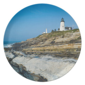 Maine, Pemaquid Point, Pemaquid Point Lighthouse Plate