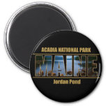 MAINE Picture Font Acadia National Park 6 Cm Round Magnet