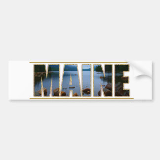 MAINE Picture Font Acadia National Park Bumper Sticker