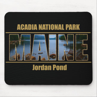 MAINE Picture Font Acadia National Park Mouse Pad